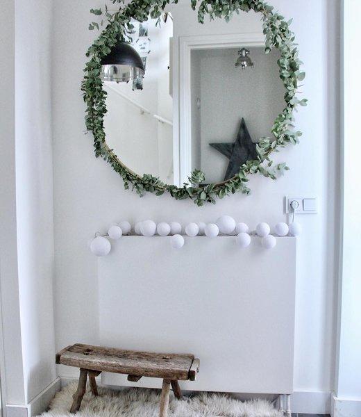 COTTON BALL LIGHTS Inspiratie   Kerst   Premium Lichtslinger Pure Whites (@wonen_bij_chantal)