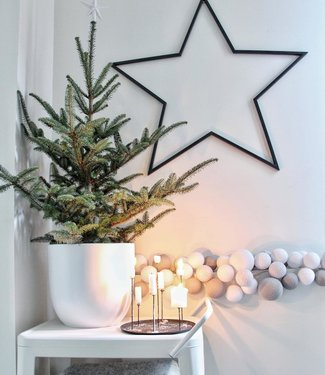 COTTON BALL LIGHTS Inspiration   Christmas   Mix & Match Light String (@wonen_bij_chantal)