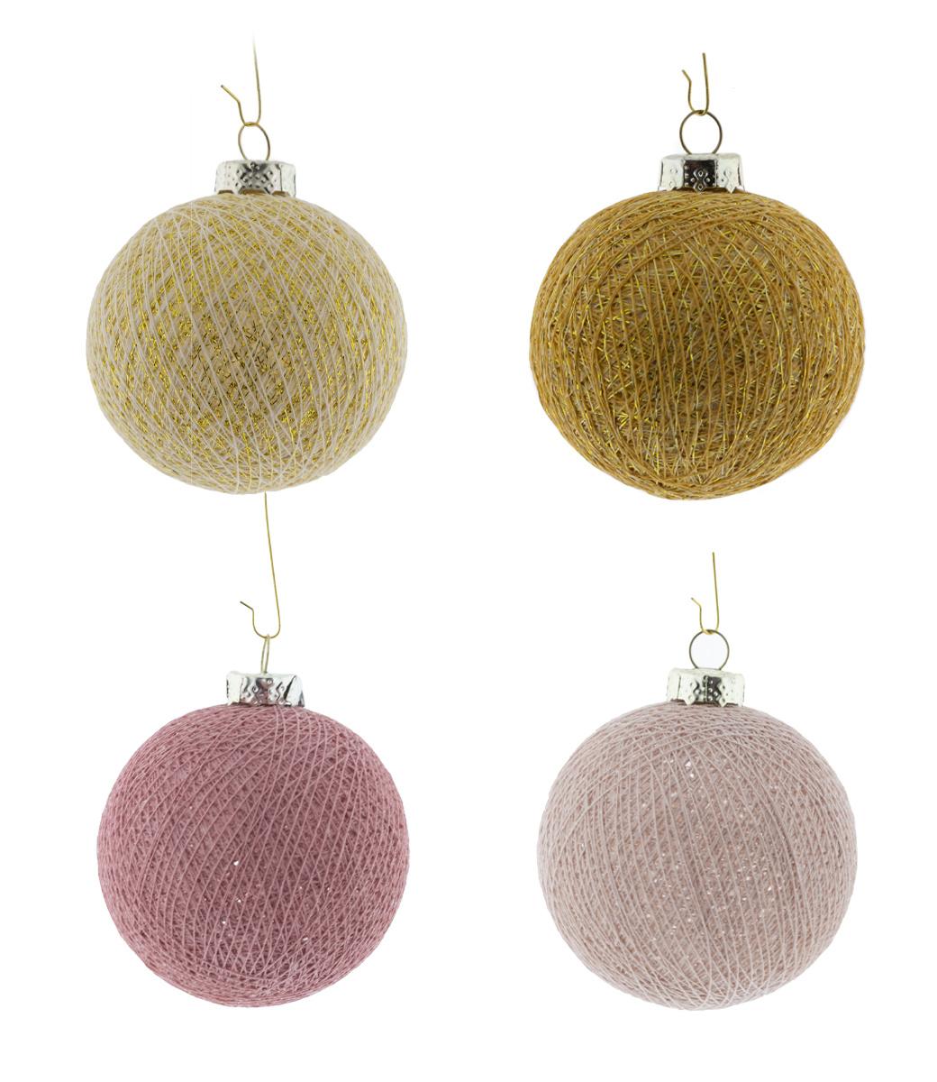 Cotton Ball Lights kerstballen roze - Rose Kiss