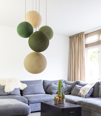 Inspiration | Living Room | Five Fold Hanging Support Jungle Greens