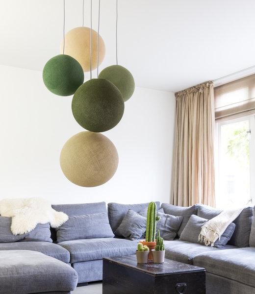 Inspiration | Living Room | Five Fold Hanging Support Jungle Greens