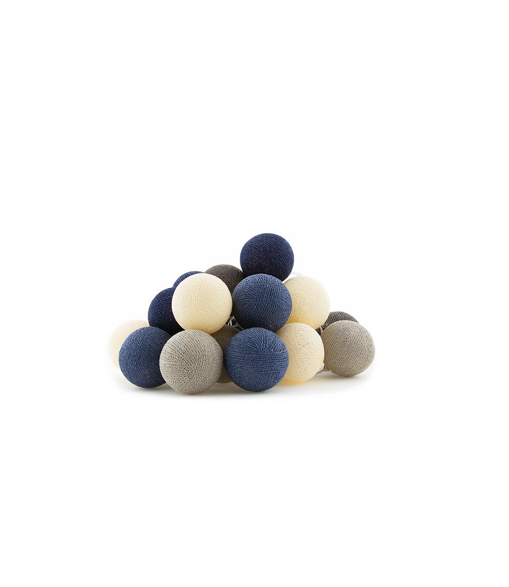 Cotton Ball Lights regular lichtslinger blauw - Steel blue