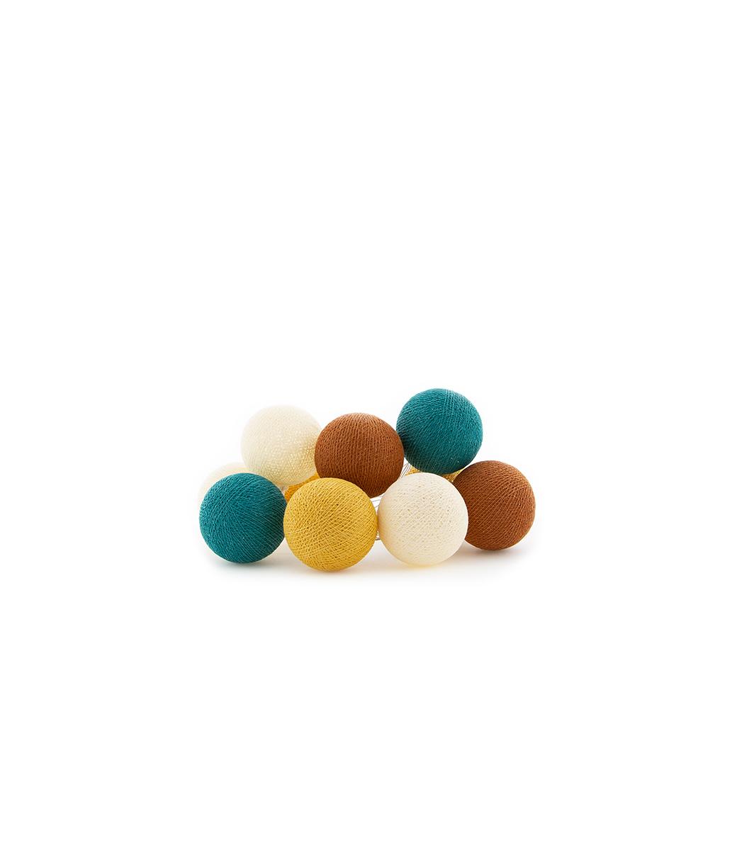 Cotton Ball Lights regular lichtslinger geel - Indian Summer