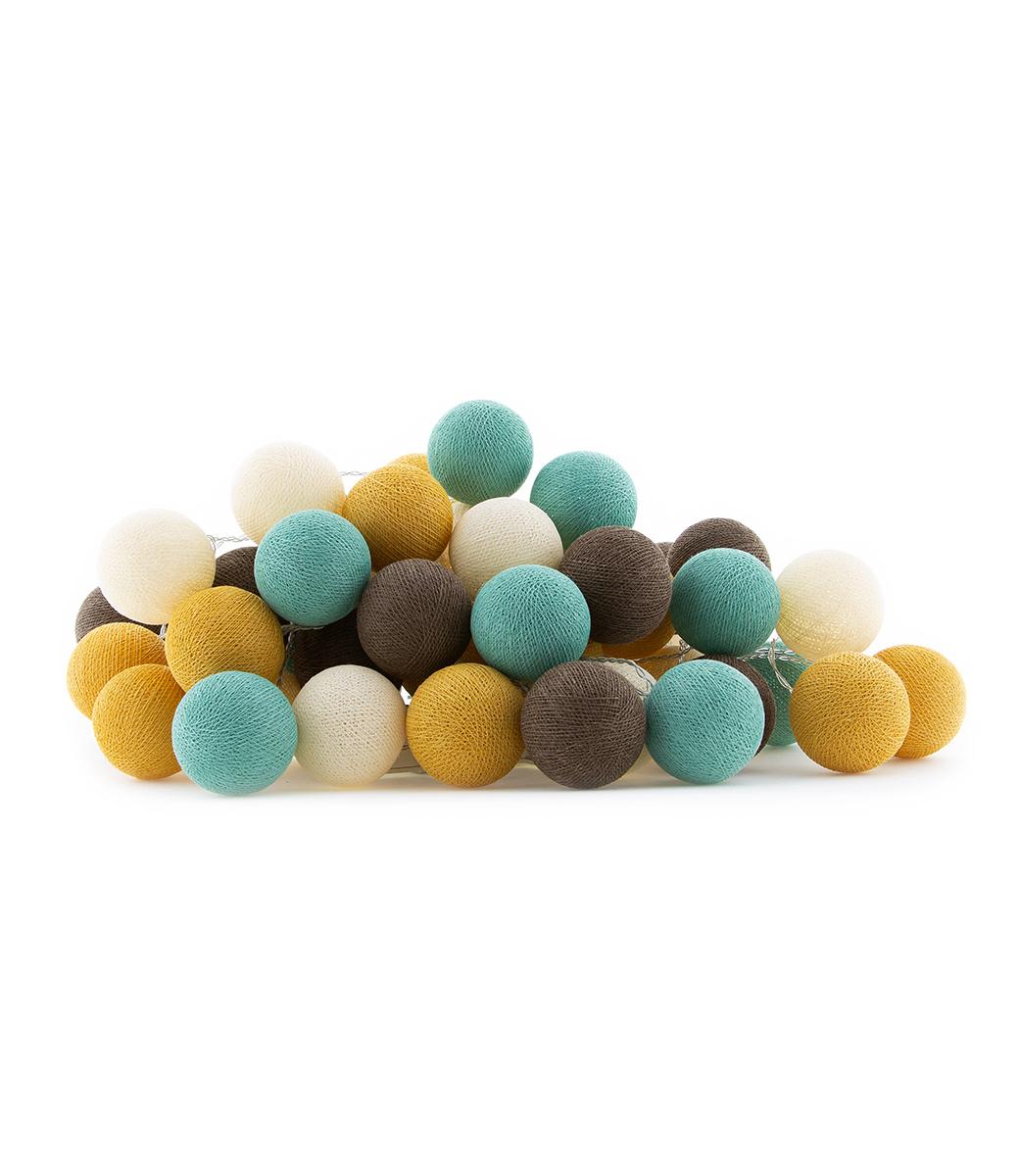 Cotton Ball Lights lichtslinger bruin en blauw - Earth
