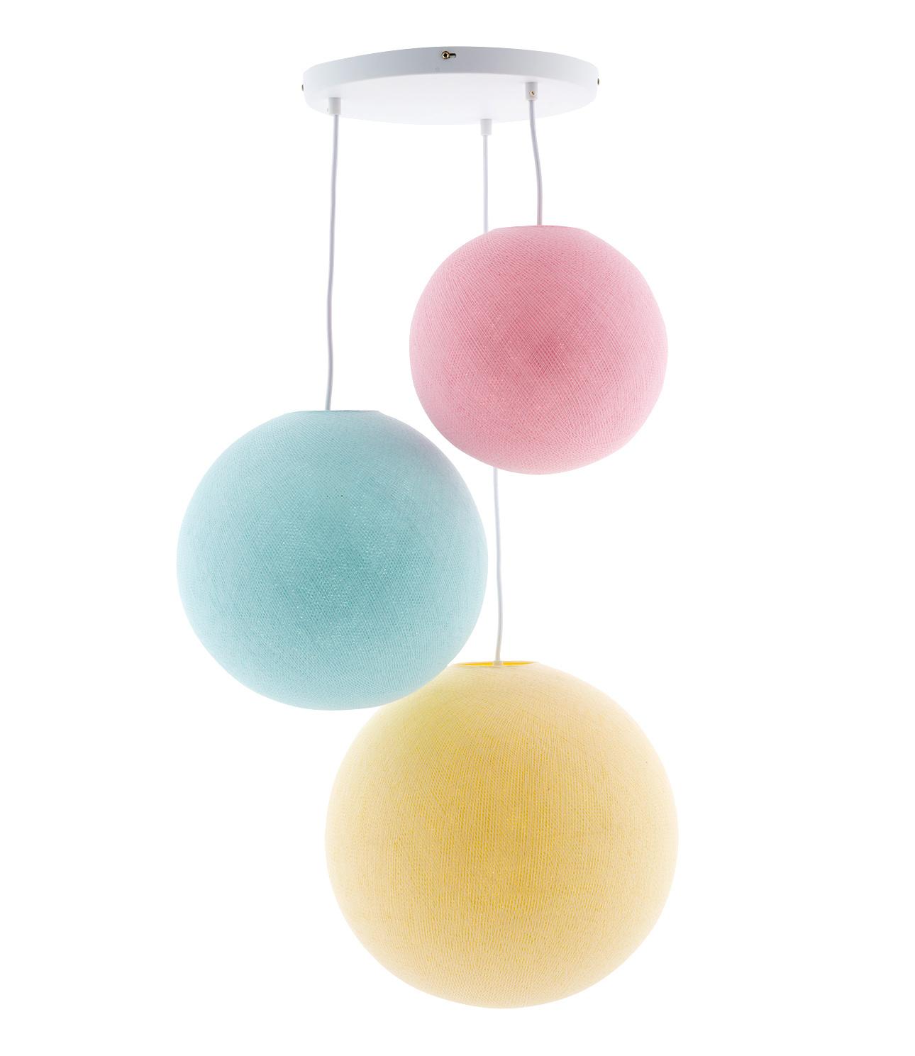 Drievoudige hanglamp 3 punt - Pastel
