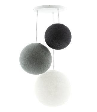 COTTON BALL LIGHTS Drievoudige hanglamp 3 punt - Shades of Grey