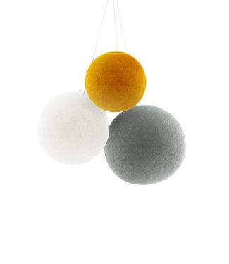 COTTON BALL LIGHTS Dreifach Hängelampe 1 Punkt - Mustard Glows