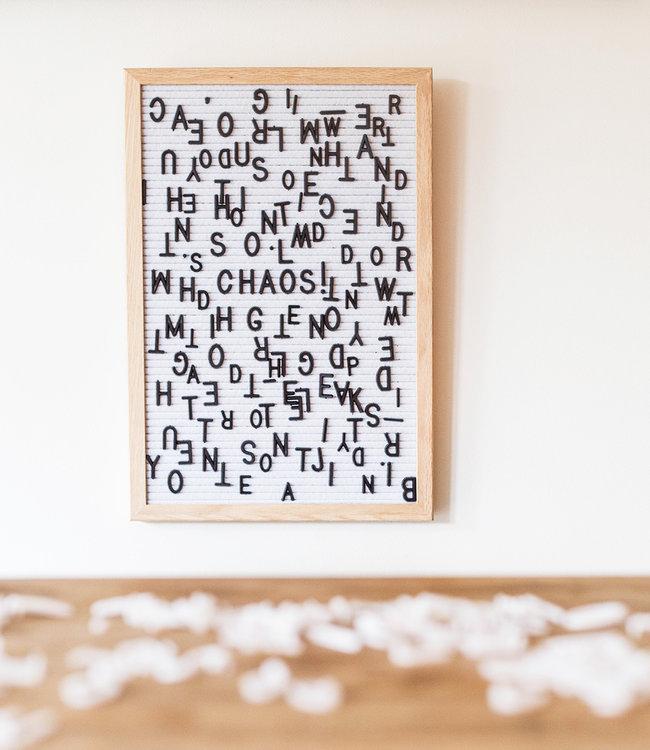 LEDR Letter Board weiß