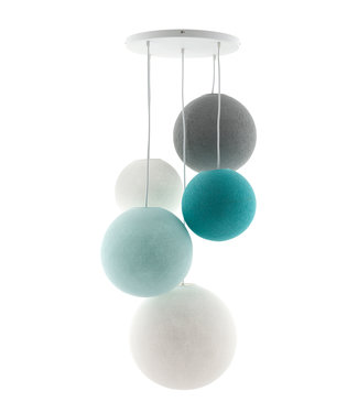 COTTON BALL LIGHTS Fivefold Hanging Lamp - Sea Breeze