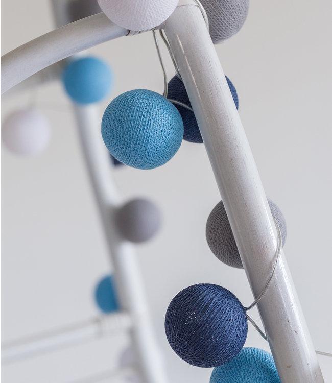 COTTON BALL LIGHTS Regular Light String - Sailor Blue