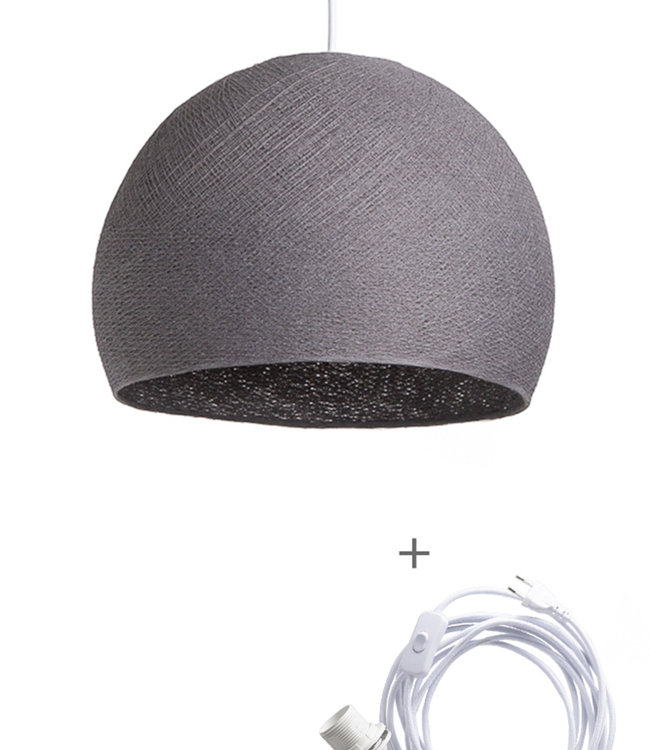 COTTON BALL LIGHTS Wandering Lamp Driekwart - Mid Grey