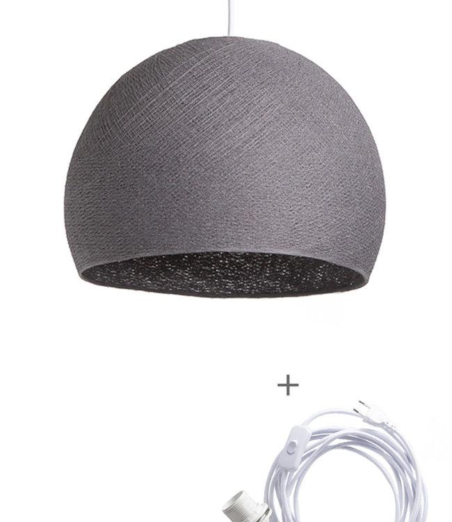 COTTON BALL LIGHTS Wandering Lamp Three Quarter - Mid Grey