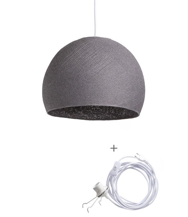 COTTON BALL LIGHTS Wandering Lampe Drei Viertel - Mid Grey