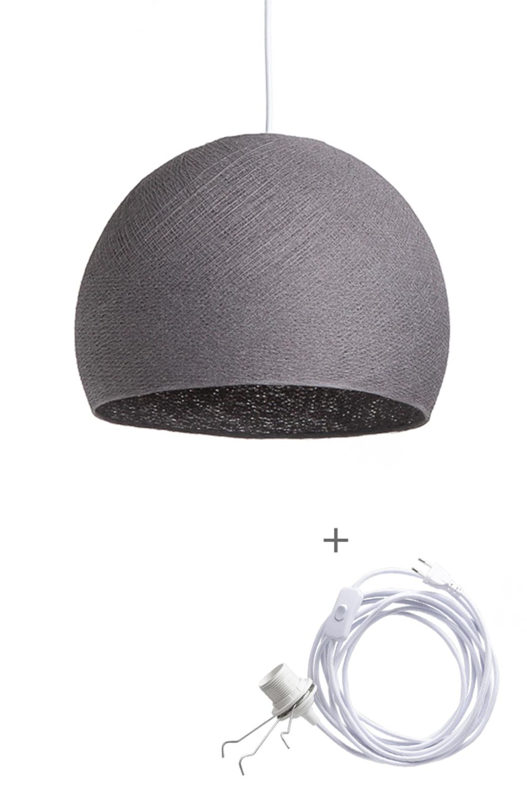 Cotton Ball Lights driekwart wandering hanglamp grijs - Mid Grey