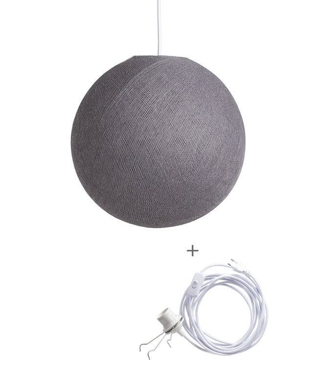 COTTON BALL LIGHTS Wandering Lampe - Mid Grey
