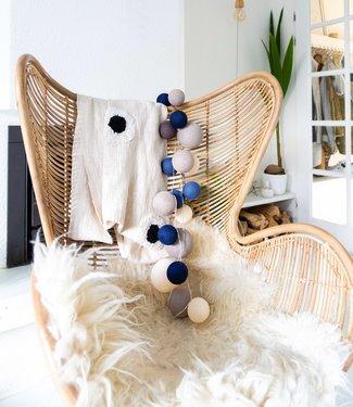 COTTON BALL LIGHTS Premium Light String - Stylish Blue