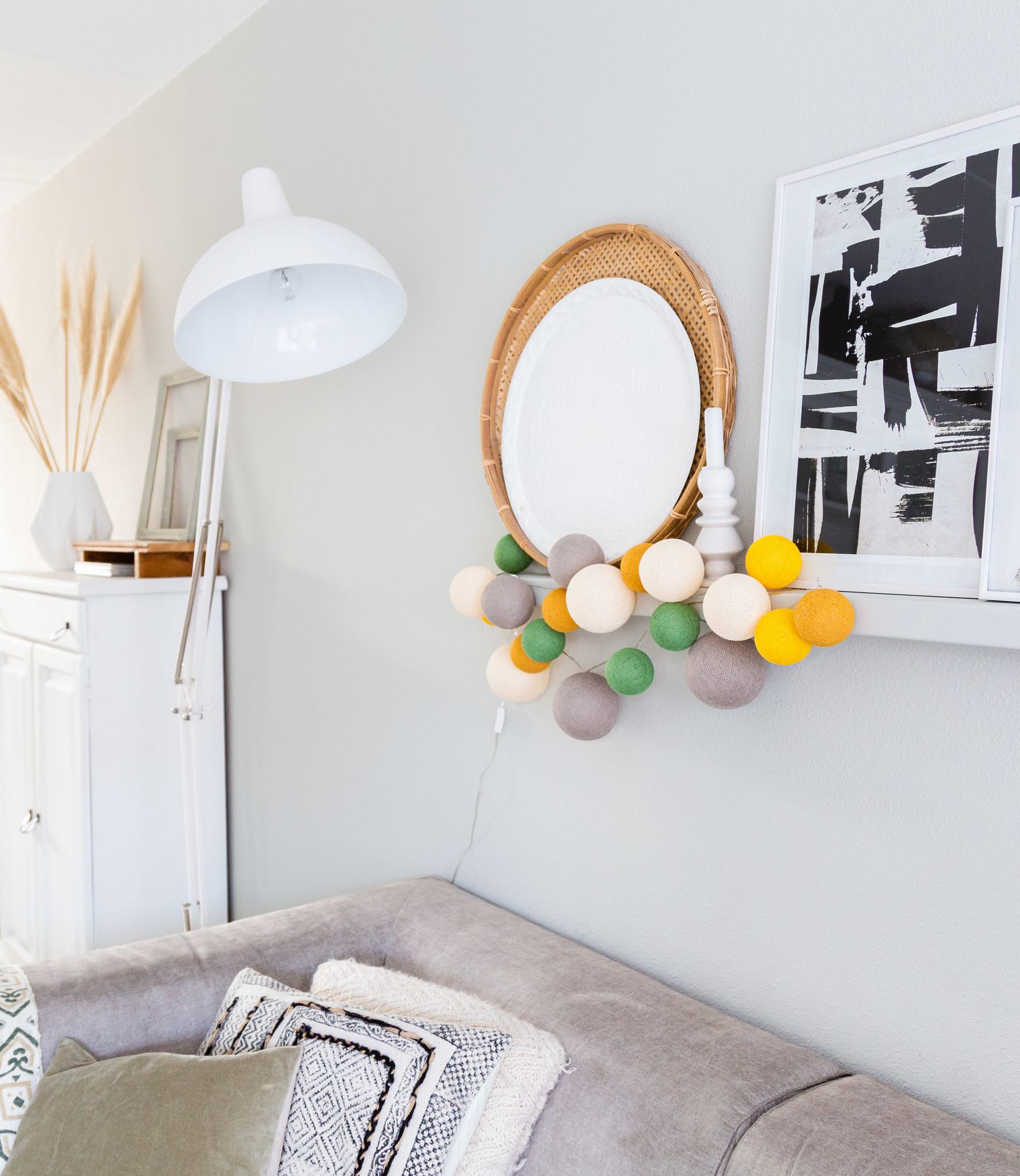 Cotton Ball Lights Premium lichtslinger geel - Summer night