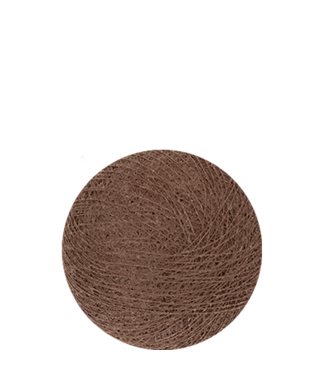 COTTON BALL LIGHTS Indoor Soft Brown