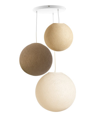 COTTON BALL LIGHTS Triple Haning Lamp 3 point - Calme Sense