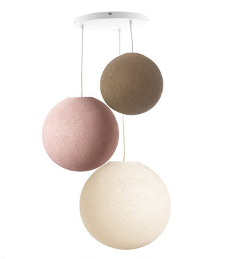 COTTON BALL LIGHTS Drievoudige hanglamp 3 punt - Beloved