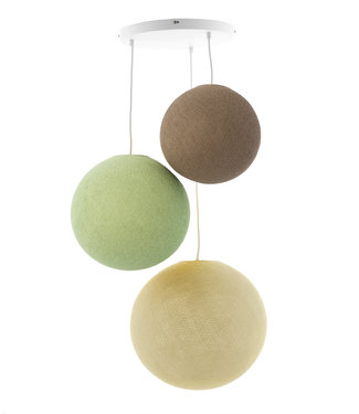 COTTON BALL LIGHTS Triple Hanging Lamp - Wild Wood (3-Deluxe)