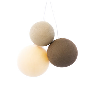 COTTON BALL LIGHTS Triple Hanging Lamp - Calm Sense (one point)