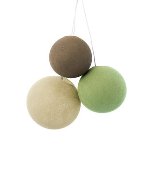 COTTON BALL LIGHTS Triple Hanging Lamp - Wild Wood (one point)