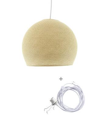 COTTON BALL LIGHTS Wandering Lamp Three Quarter - Cream