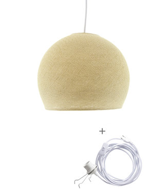 COTTON BALL LIGHTS Wandering Lamp driekwart - Cream
