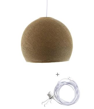 COTTON BALL LIGHTS Wandering Lamp driekwart - Caffe Latte