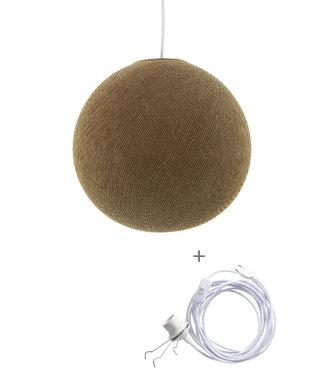 COTTON BALL LIGHTS Wandering Lampe - Caffe Latte