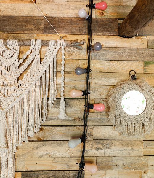Regular Edison Bulbs Patio Lights - Dirty Rose