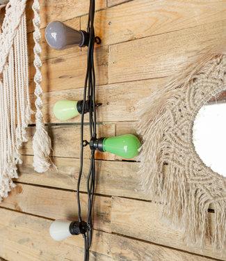LEDR Regular Edison Bulbs Patio Lichterkette - Green Grey