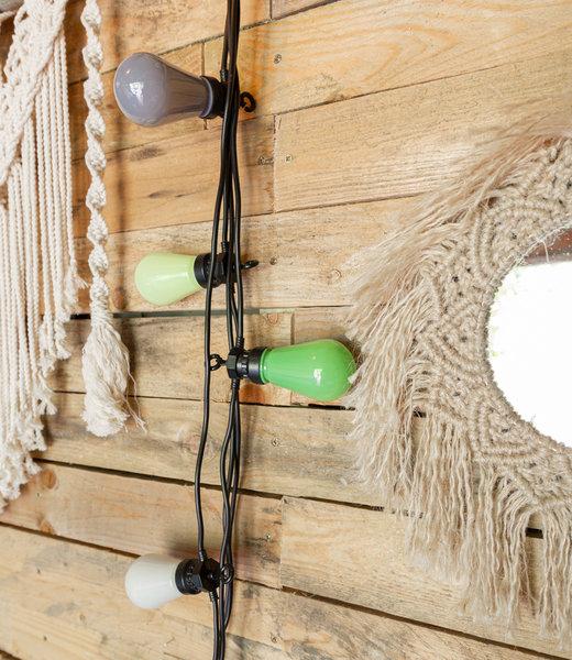Regular Edison Bulbs Patio Lights - Green Grey