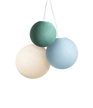 COTTON BALL LIGHTS Triple Hanging Lamp 1 point - River Flow