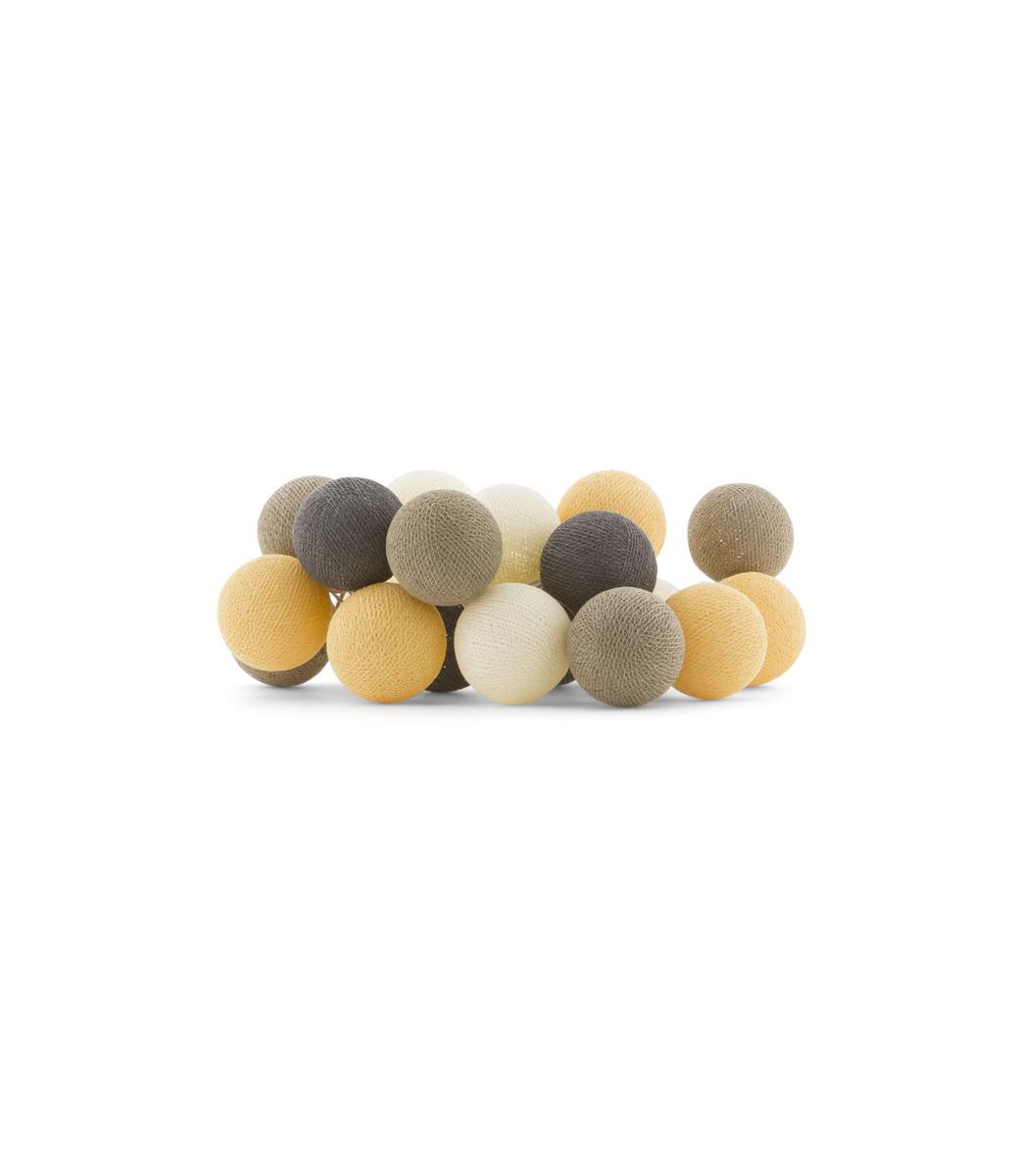 Cotton Ball Lights Regular lichtslinger oranje Clay