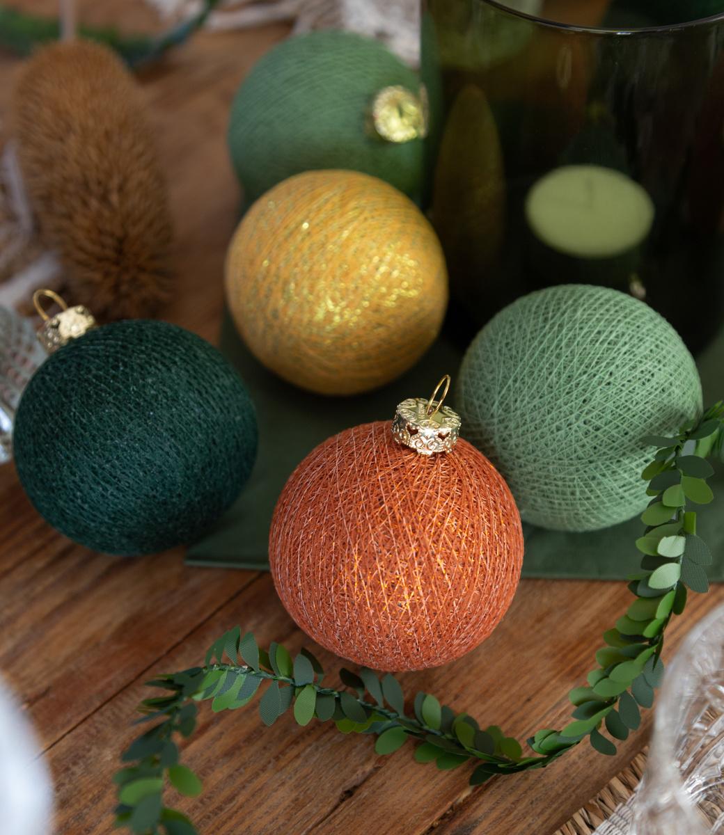 Cotton Ball Lights kerstballen groen - Sparkling Jungle