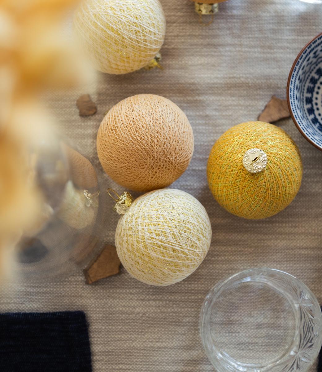 Cotton Ball Lights kerstballen goud - Gold Mix