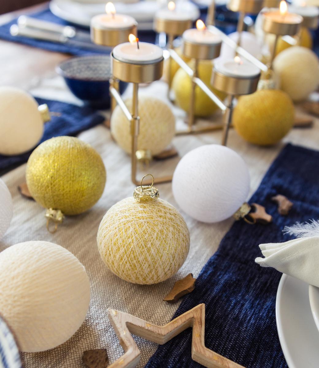 Cotton Ball Lights kerstballen goud - Touch of Gold