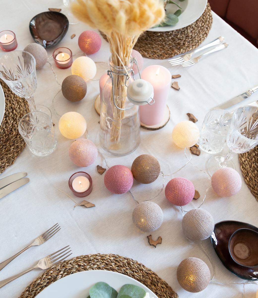 Cotton Ball Lights Regular Lichtslinger roze - Beloved