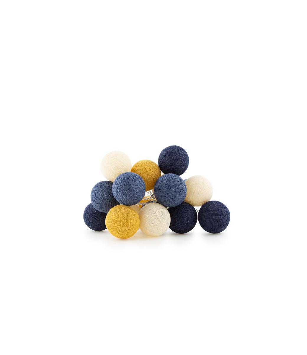Cotton Ball Lights Regular Lichtslinger blauw - Galaxy