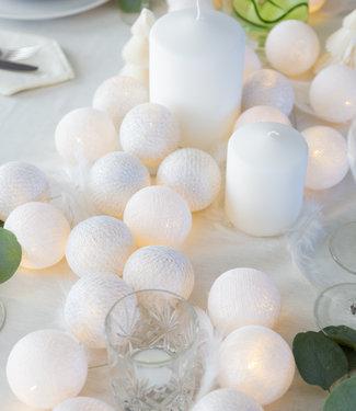 COTTON BALL LIGHTS Sparkling Lichtslinger - Silver/White