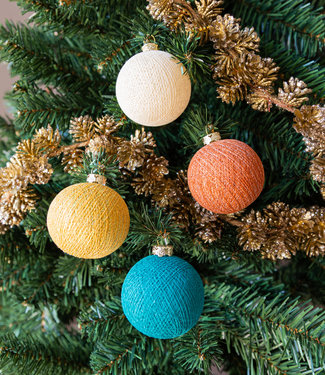 COTTON BALL LIGHTS Kerstmis Cotton Balls - Indian Sparkling
