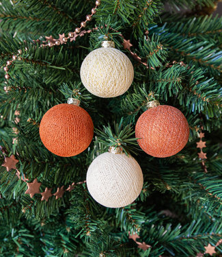 COTTON BALL LIGHTS Christmas Cotton Balls - Cosy Copper