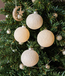 COTTON BALL LIGHTS Christmas Cotton Balls - Silver Bells