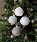 COTTON BALL LIGHTS  Cotton Ball Lights kerstballen zilver - Silver Mix