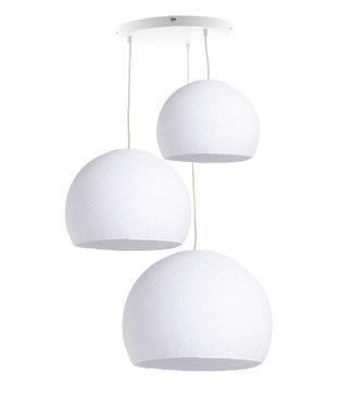 COTTON BALL LIGHTS Drievoudige hanglamp 3 punt - Driekwart White