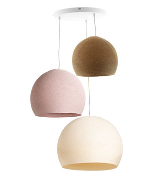 COTTON BALL LIGHTS Drievoudige hanglamp 3 punt - Driekwart Beloved