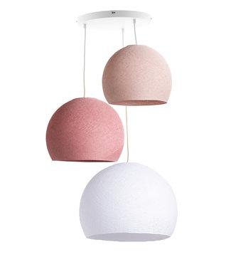 COTTON BALL LIGHTS Drievoudige hanglamp 3 punt - Driekwart Dirty Rose