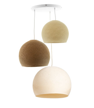 COTTON BALL LIGHTS Triple Hanging Lamp 3 point - Three Quarter Calm Sense